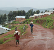 walking up road in Gihembe 180x167