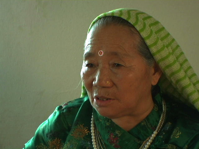 Older Bhutanese woman