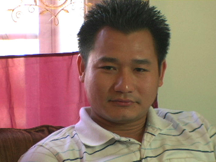 Man from Burma at his home