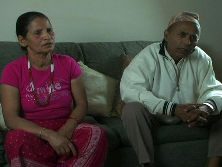 A Bhutanese couple at home