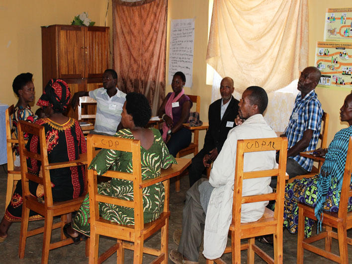 Congolese CO class in Rwanda: group work