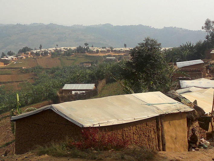 Refugee houses in Kiziba Refugee Camp in Rwanda